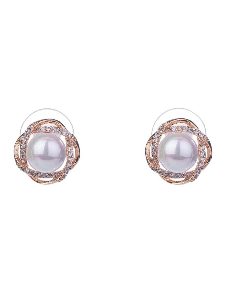 Floral Pearl Earrings image 1