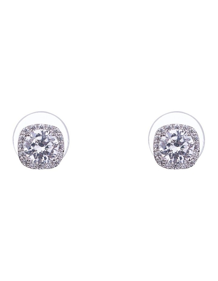 Square CZ Earrings image 1