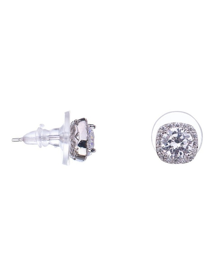 Square CZ Earrings image 2