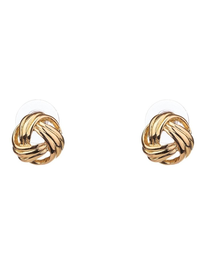 Metal Knot Earrings image 1