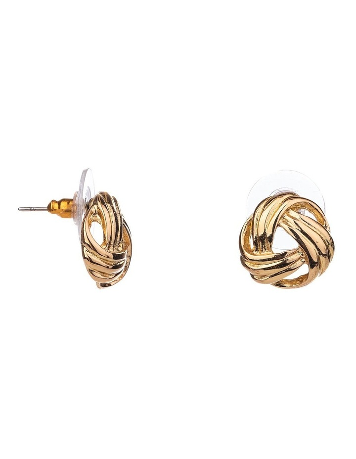 Metal Knot Earrings image 2
