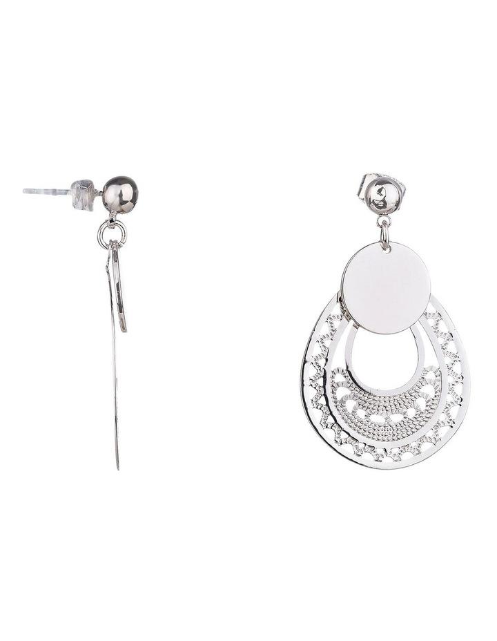 Cut-out Teardrop Metal Earring image 2