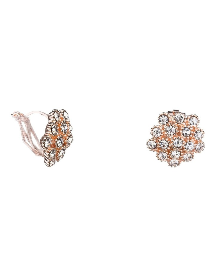 Cluster CZ Clip Earrings image 2