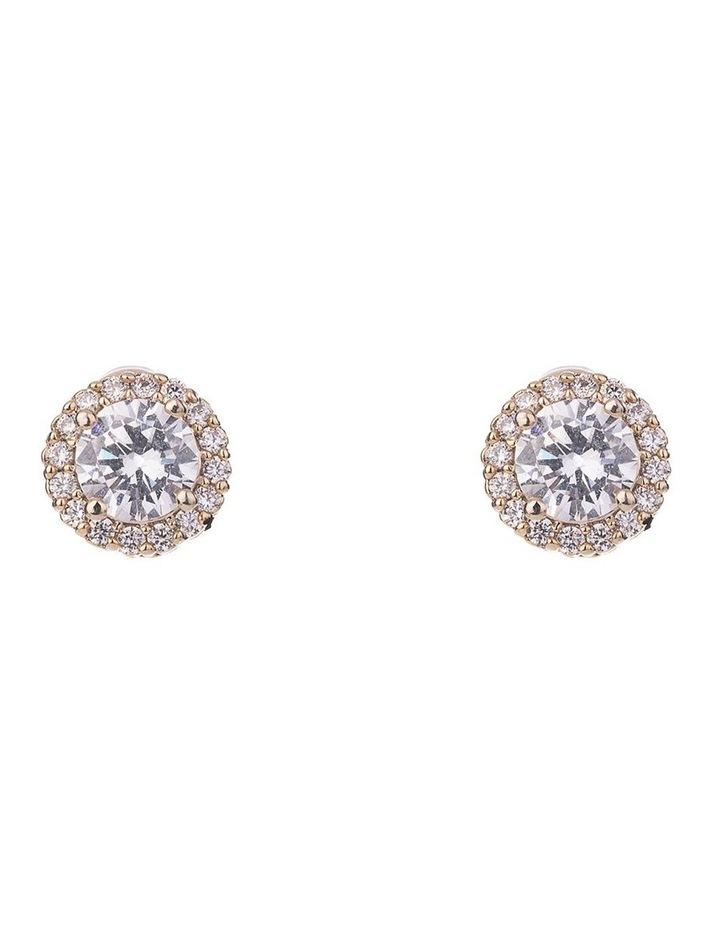 Halo CZ Stud Earrings image 1