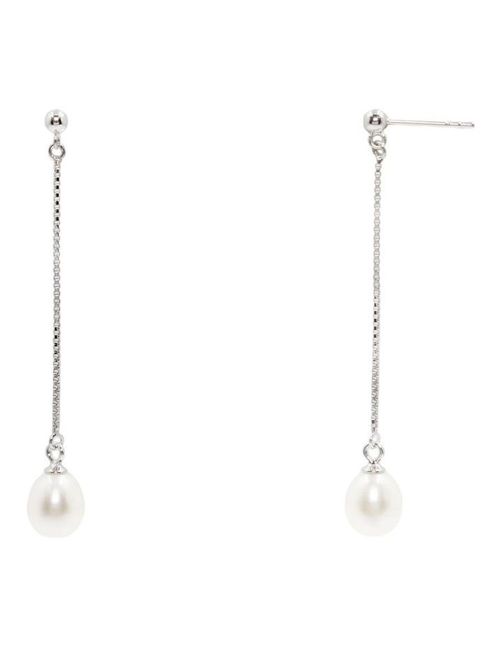 Elegant Long Pearl Earrings image 2