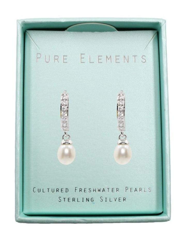 Pearl Charm Earrings image 3