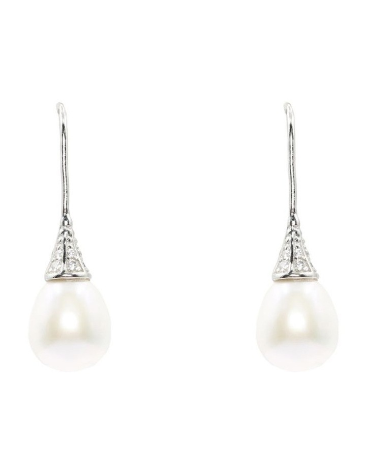 Sparkle Pearl Drop Earrings image 1