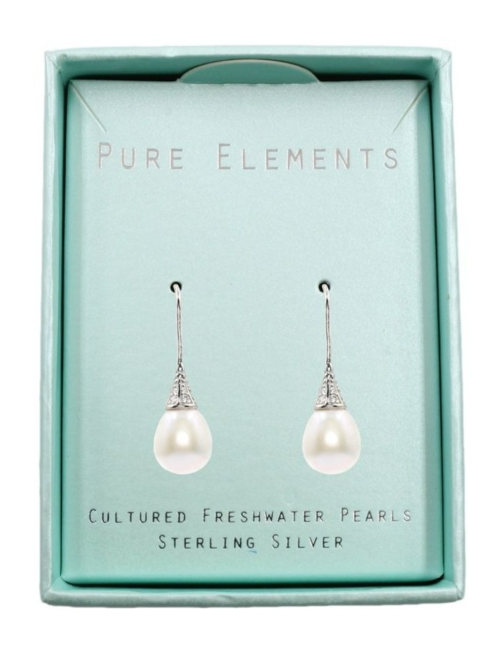Sparkle Pearl Drop Earrings image 3