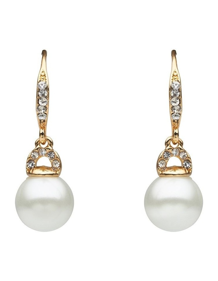 Pearl & Stone Set Drop Earring image 1