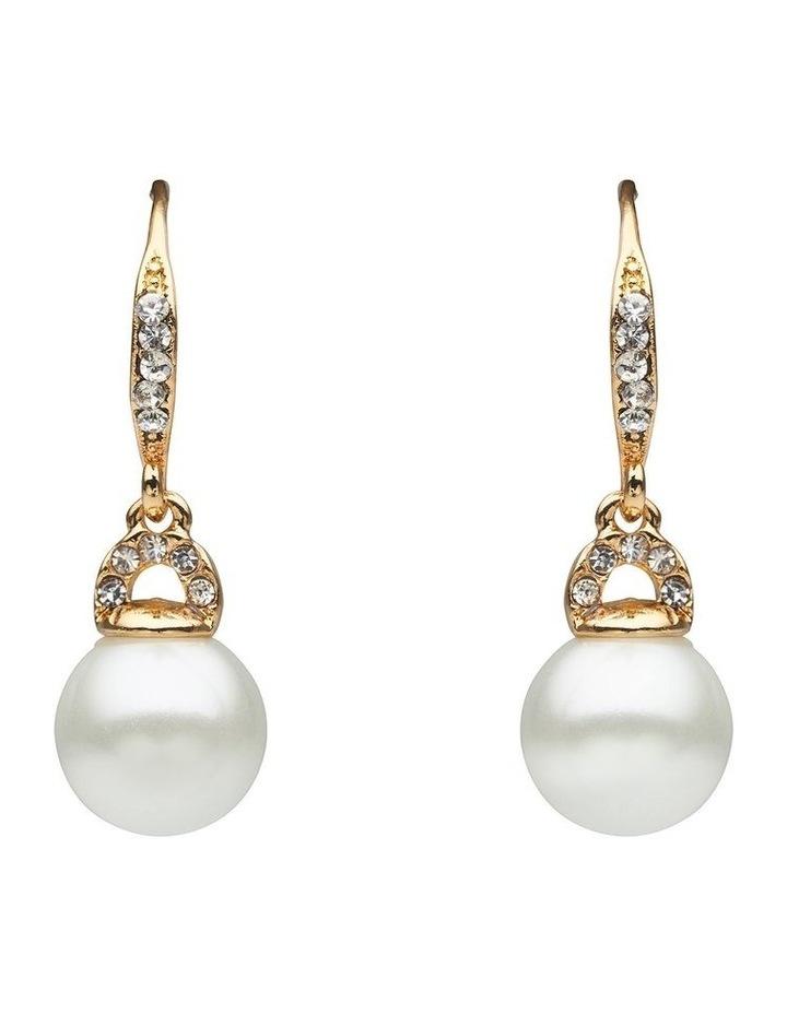 Pearl & Stone Set Drop Earring image 1