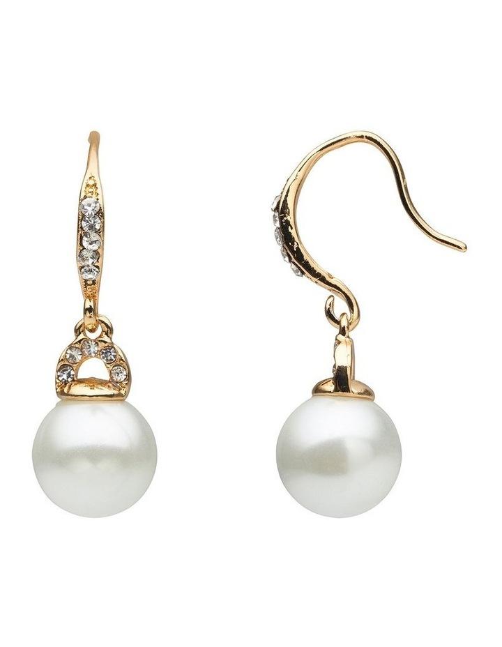 Pearl & Stone Set Drop Earring image 2