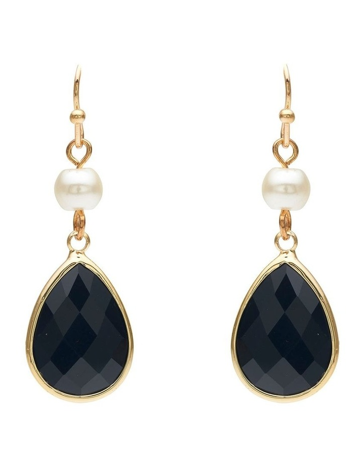 Pearl and Stone Earring image 1