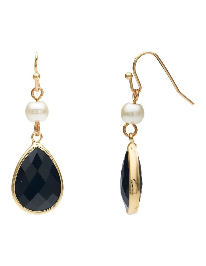 Pearl and Stone Earring image 2