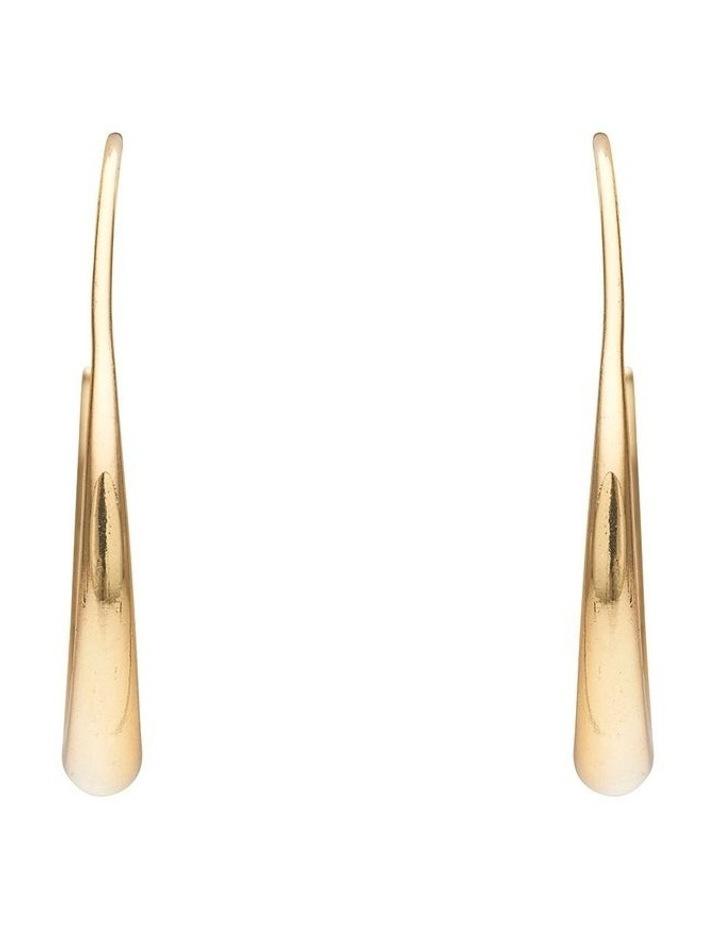 Tapered Metal Hoop Earrings image 1
