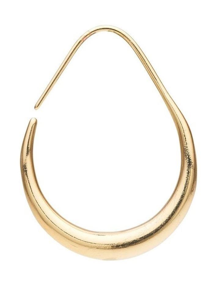Tapered Metal Hoop Earrings image 4