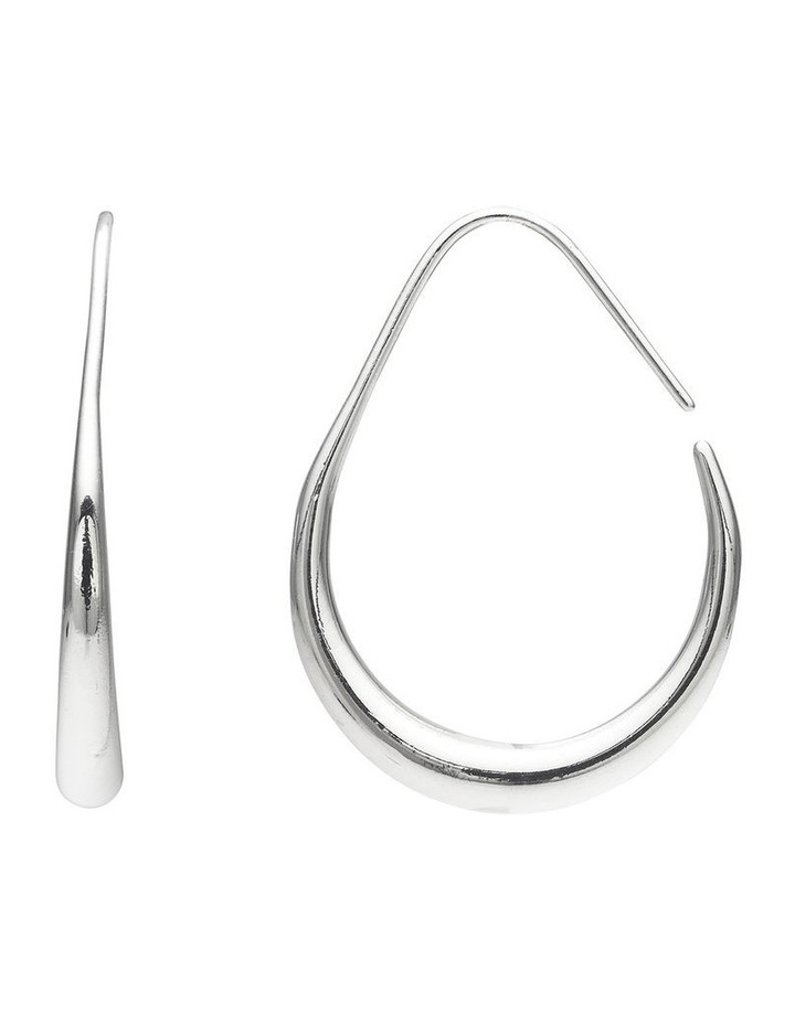 Tapered Metal Hoop Earrings image 2