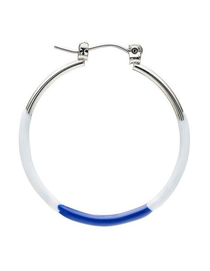 Enamel Hoop Earrings image 3