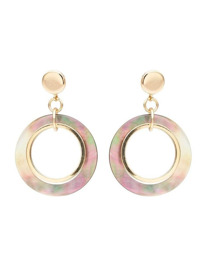 Ring Shell & Metal Earring image 1