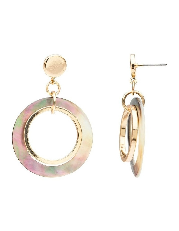 Ring Shell & Metal Earring image 2