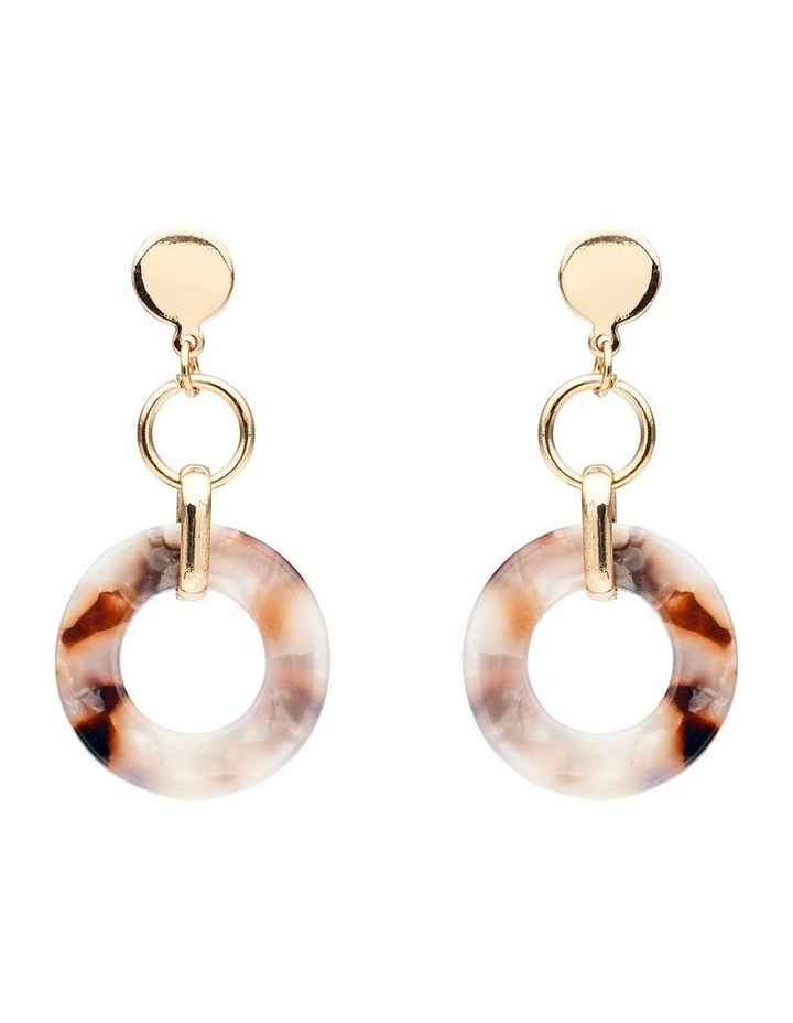 Stud and Circle Drop Earring image 1