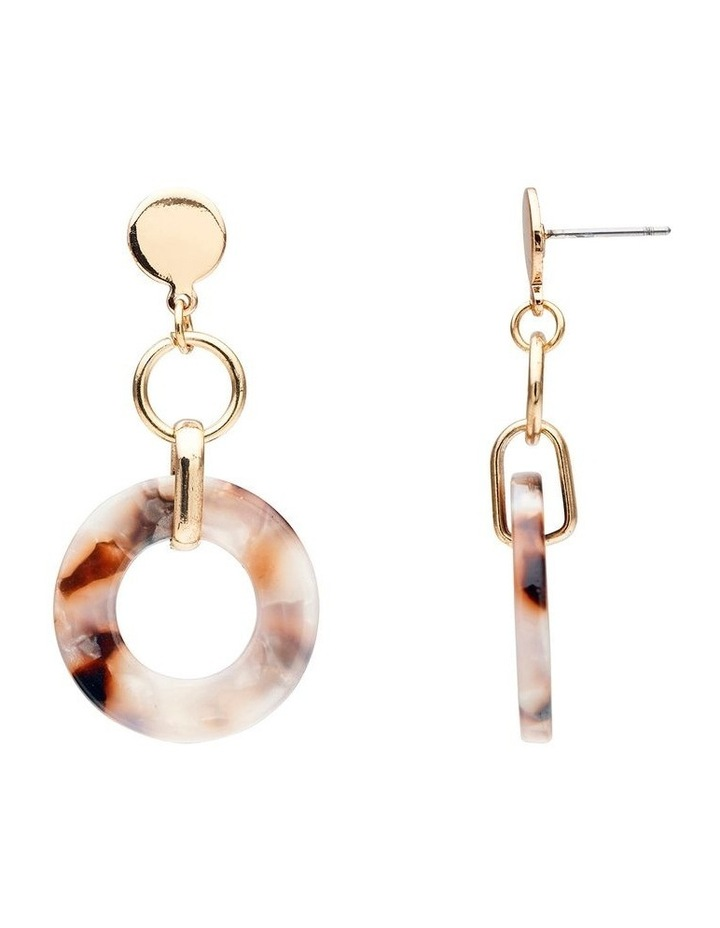 Stud and Circle Drop Earring image 2