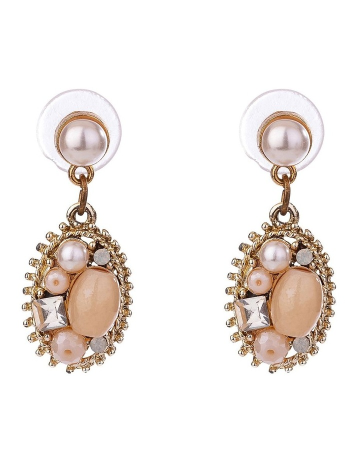 Beaded Drop Earrings W Pearl image 1