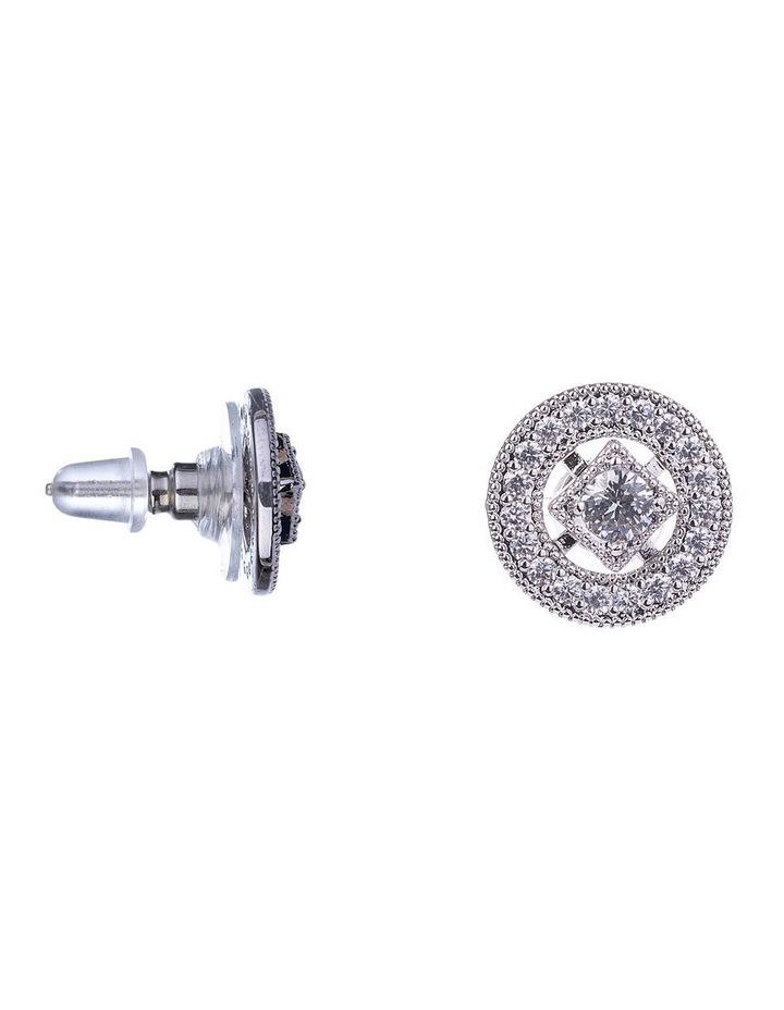 Halo CZ Stud Earring image 2