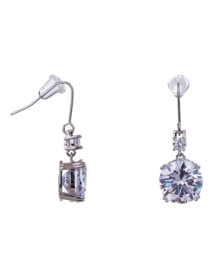 Large CZ Drop Earring image 2