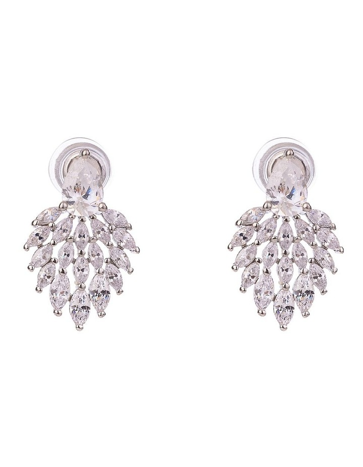 CZ Fan Earrings image 1