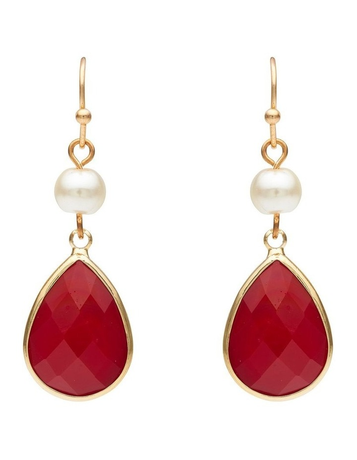 Pearl & Stone Earring image 1