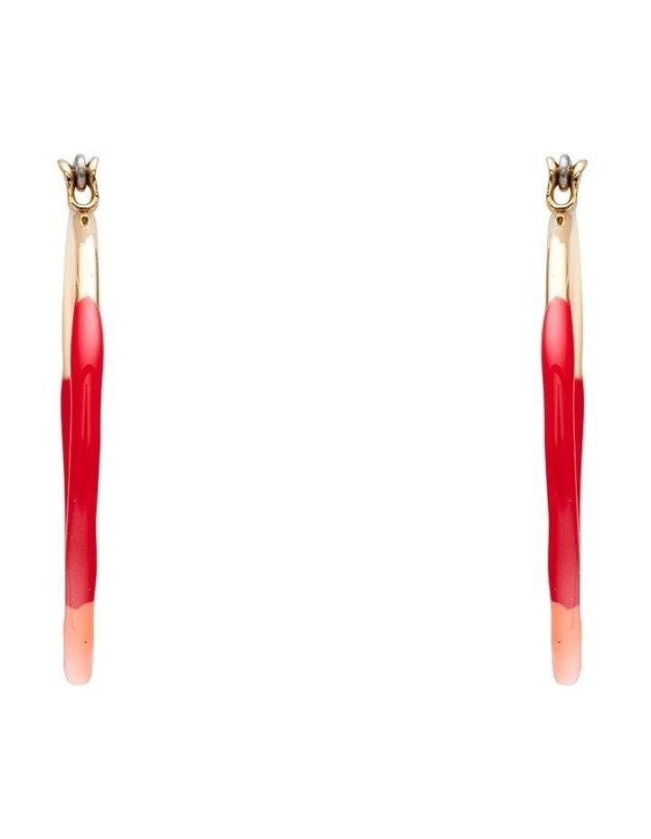 Enamel Hoop Earrings image 1