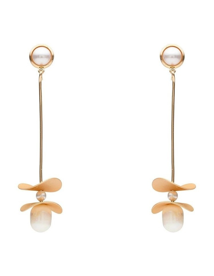 Contemporary Pearl Drop Earring image 1
