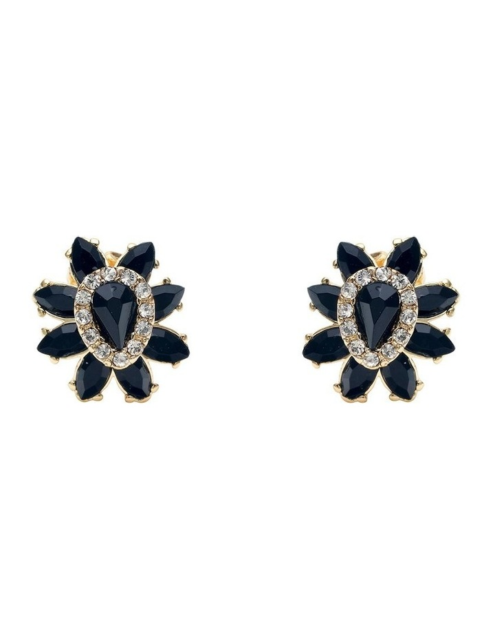 Black Rose Earring image 1