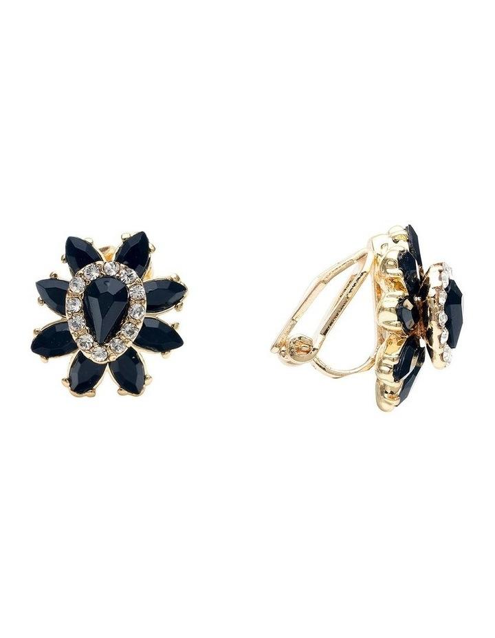 Black Rose Earring image 2