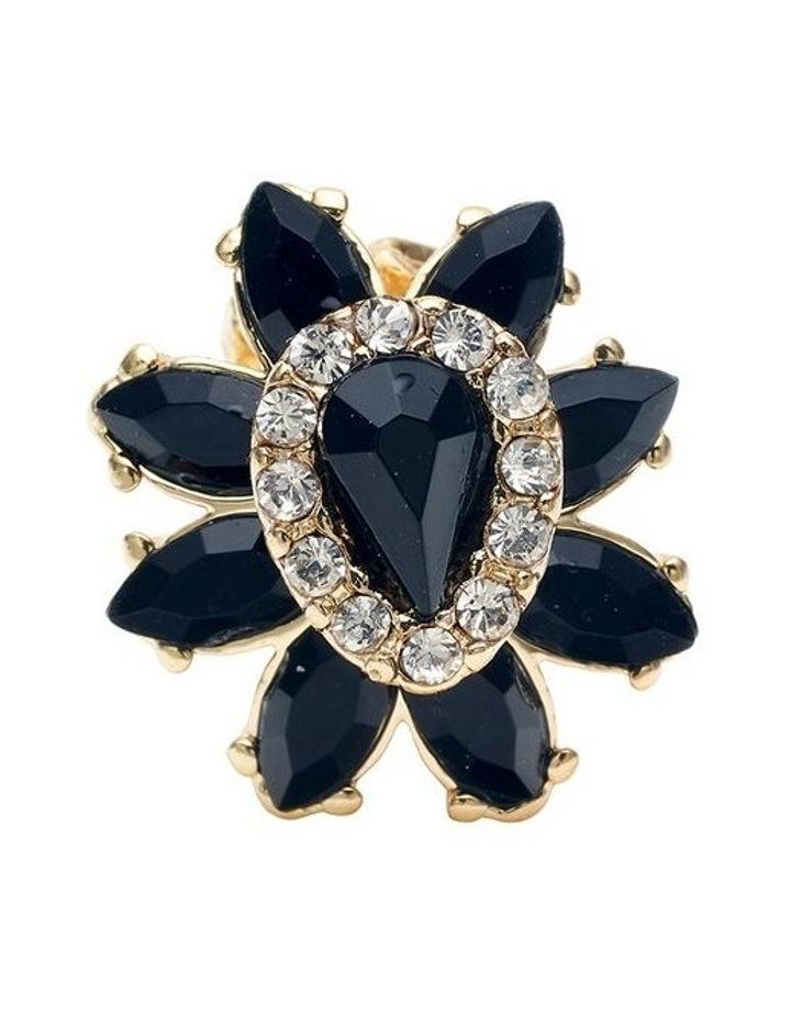 Black Rose Earring image 3