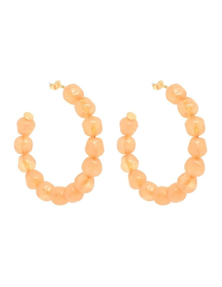 Sara Resin Hoops Coral image 1