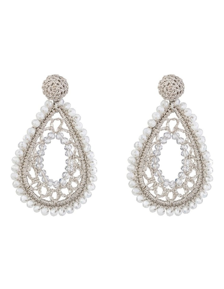 Crochet Teardrop Earrings image 1