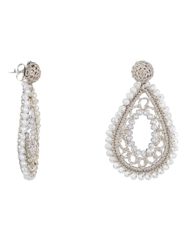 Crochet Teardrop Earrings image 2