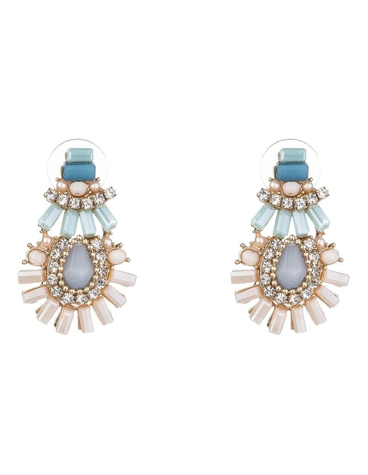 Cz And Bead Earring image 1