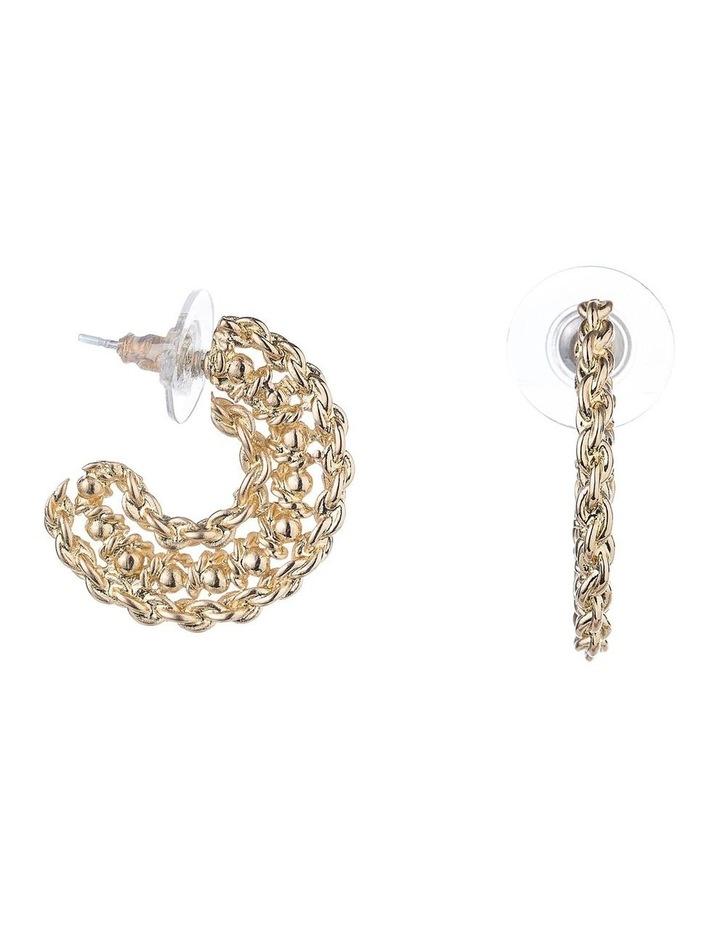 3/4 Hoop Earrings image 2