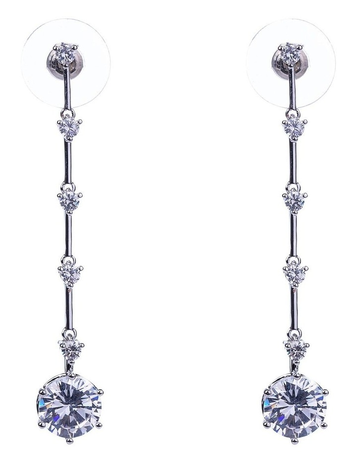 Long Drop Cz Earring image 1