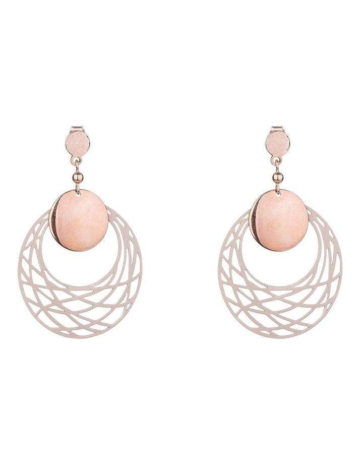 Cutout Circle Earrings image 1