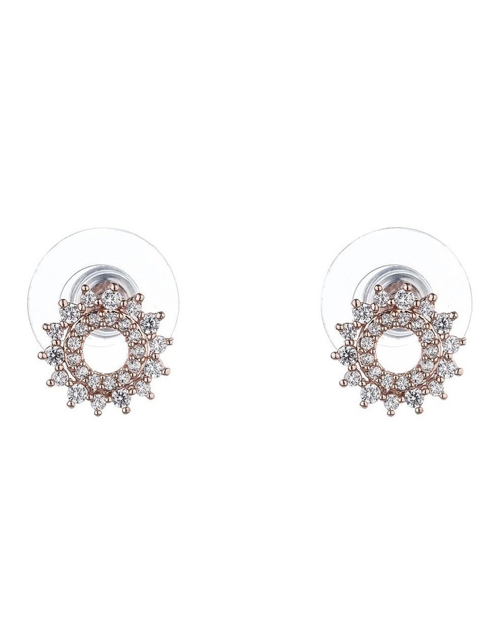Small Round Micro Cz Stud Earring image 1