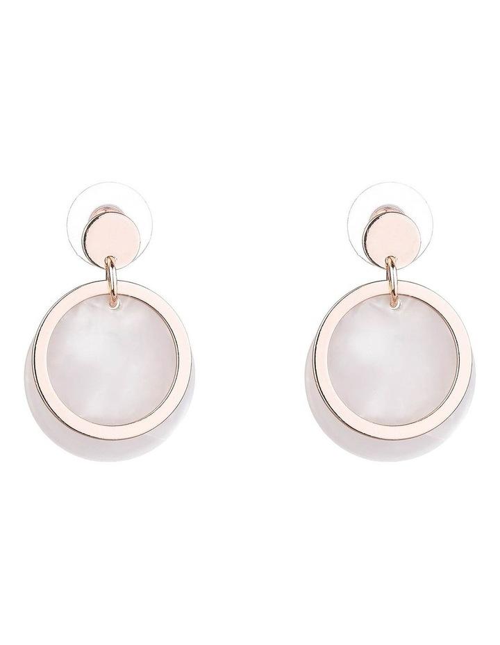 Drop Disc Earrings image 1