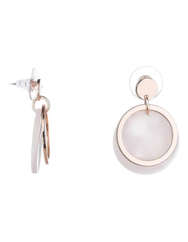 Drop Disc Earrings image 2
