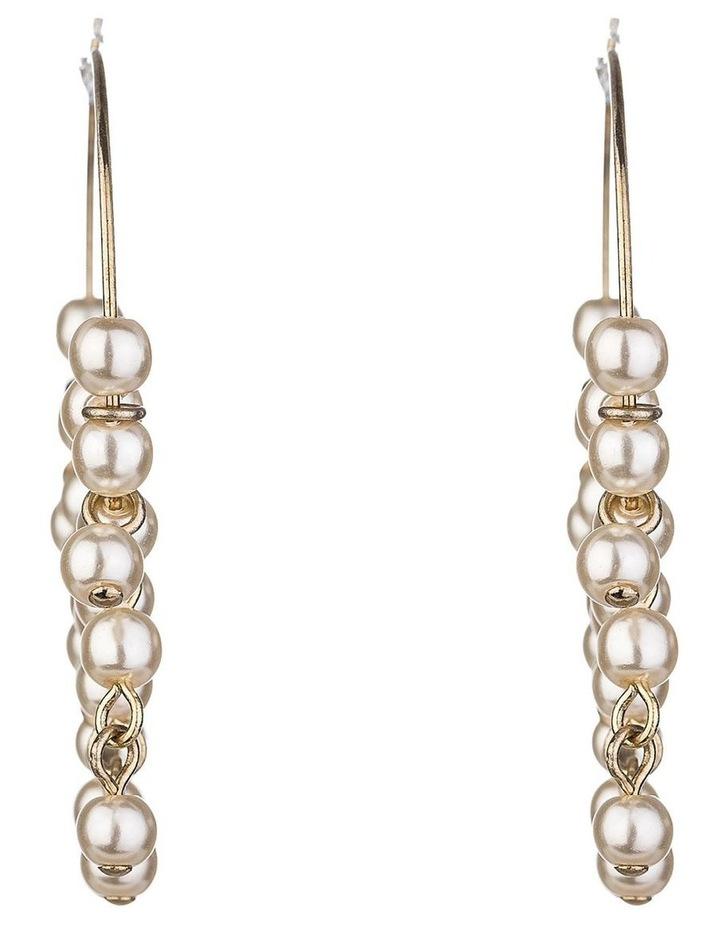 Pearl Hoop Earring image 1