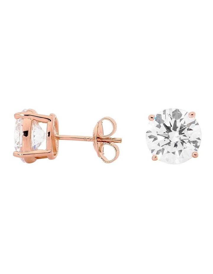 9mm Round Stud Rose Gold image 1