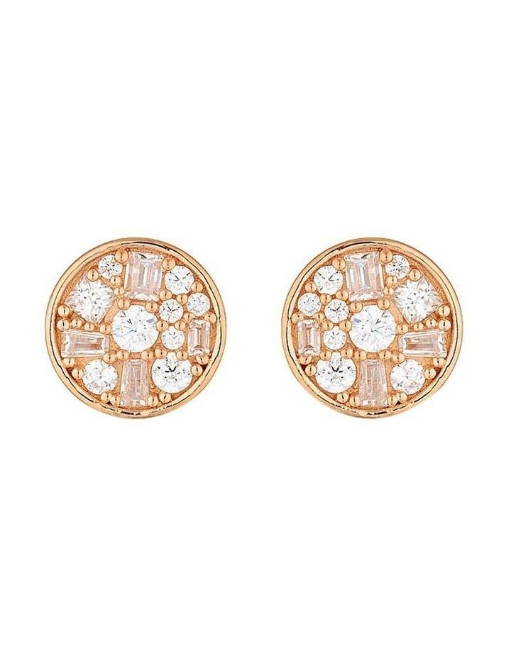 Mini Mosaic Rose Gold Stud Earrings image 1