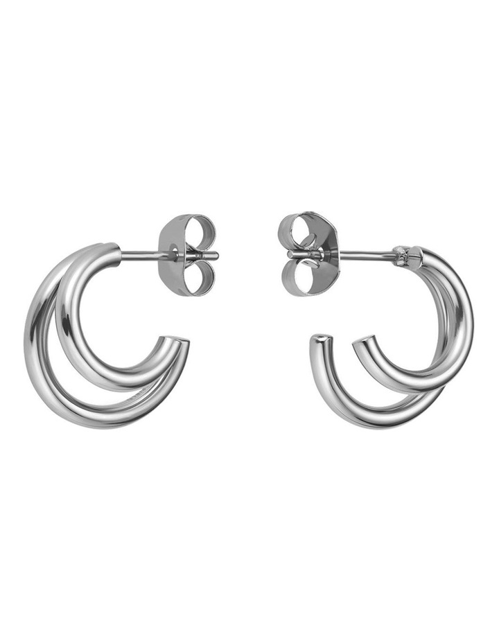 Lois Double Hoop Small Earring image 1