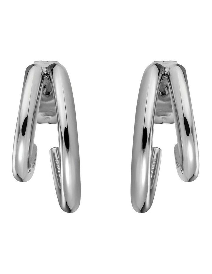 Lois Double Hoop Small Earring image 2
